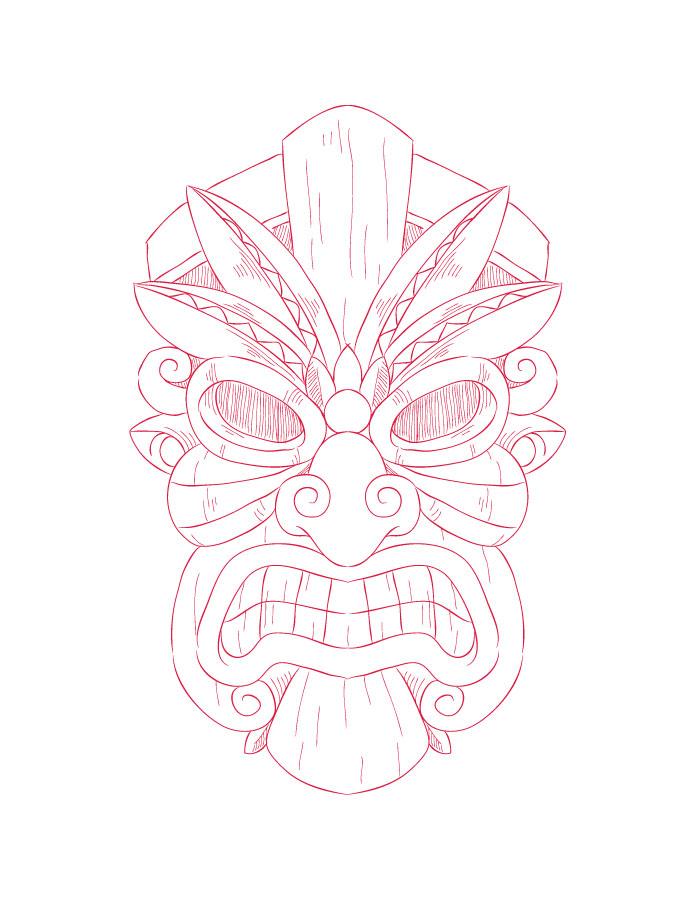Imprimer des coloriages masque tiki pour adulte - Artherapie.ca