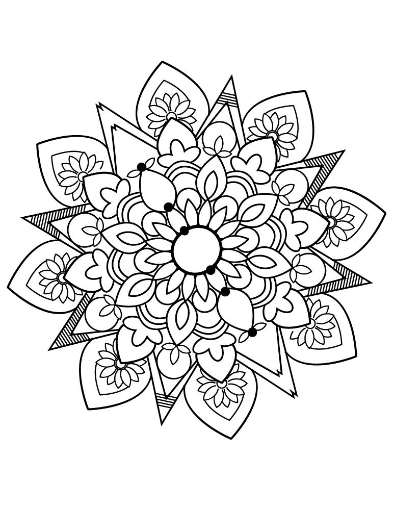 Mandala images facile coloriage gratuit imprimer - Artherapie.ca