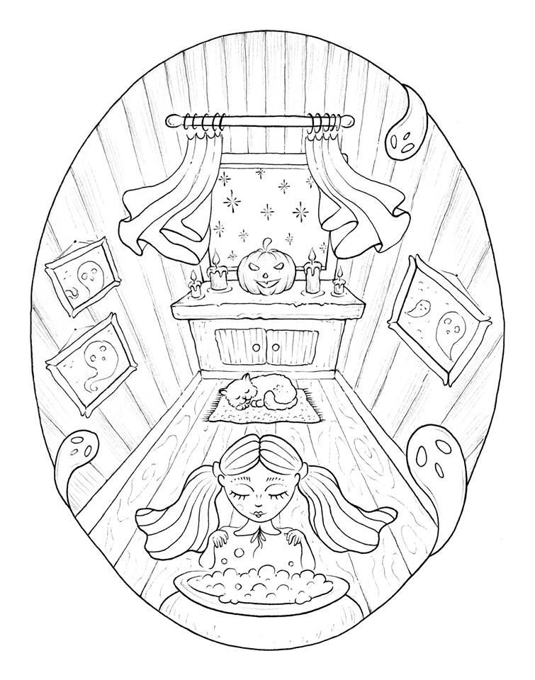 Petite sorcière imprimer et dessiner par Konstantinos Liaramantzas
