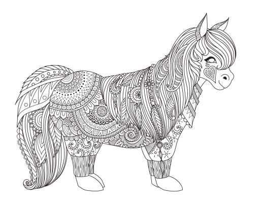 Coloriage gratuit poulain Bimbimkha dessin très difficile