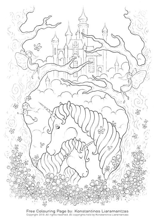 Konstantinos Liaramantzas coloriage licorne image share