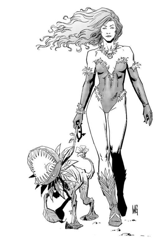 Poison Ivy l'Empoisonneuse à imprimer par Walter Geovani