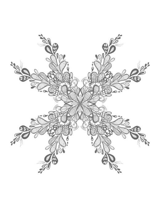 Mandala flocon de neige coloriage à imprimer