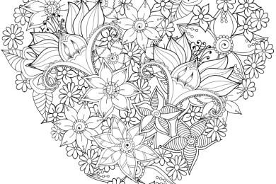 Coloriages difficiles pour adultes gratuits imprimer - Coloriage fleur tres jolie ...