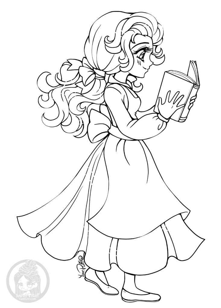 Coloriage Difficile Princesse.Coloriage Princesse Disney Belle Pour Imprimer Artherapie Ca