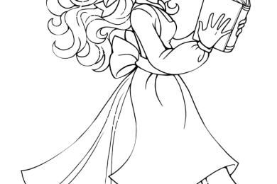 Coloriage princesse Disney Belle pour imprimer