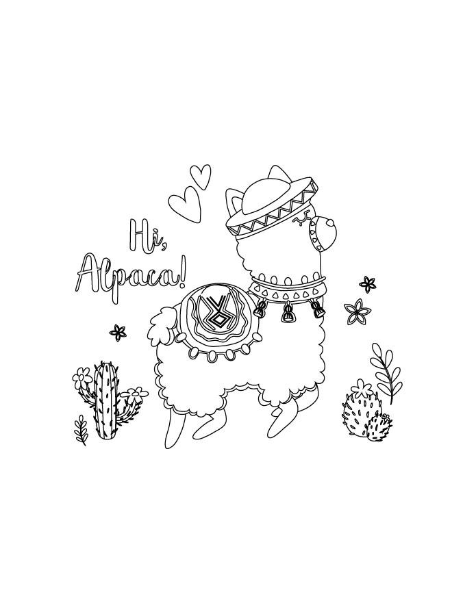 Fortnite coloriage alpaca à imprimer