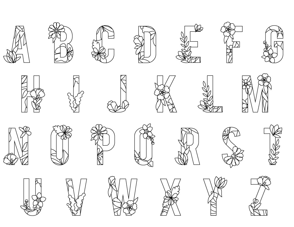 Coloriage Saison Printemps.Lettre Alphabet Printemps A Imprimer Artherapie Artherapie Ca
