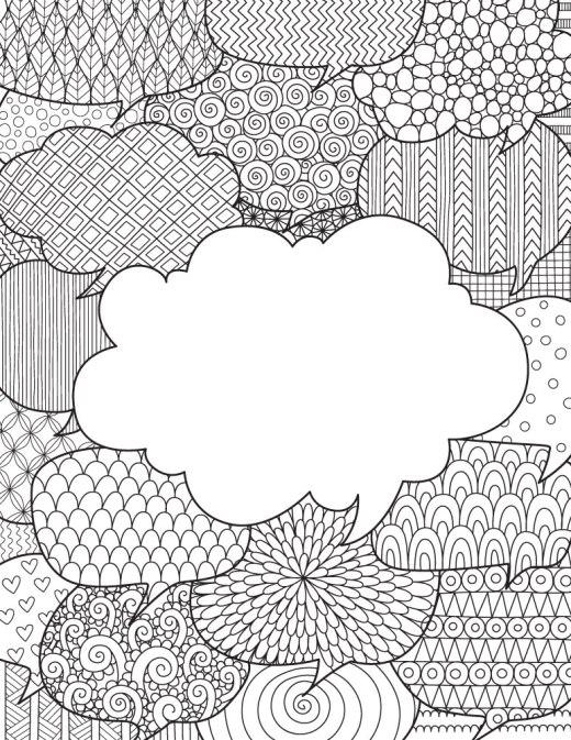 Pensée et rêve la thérapie dessin a colorier gratuit