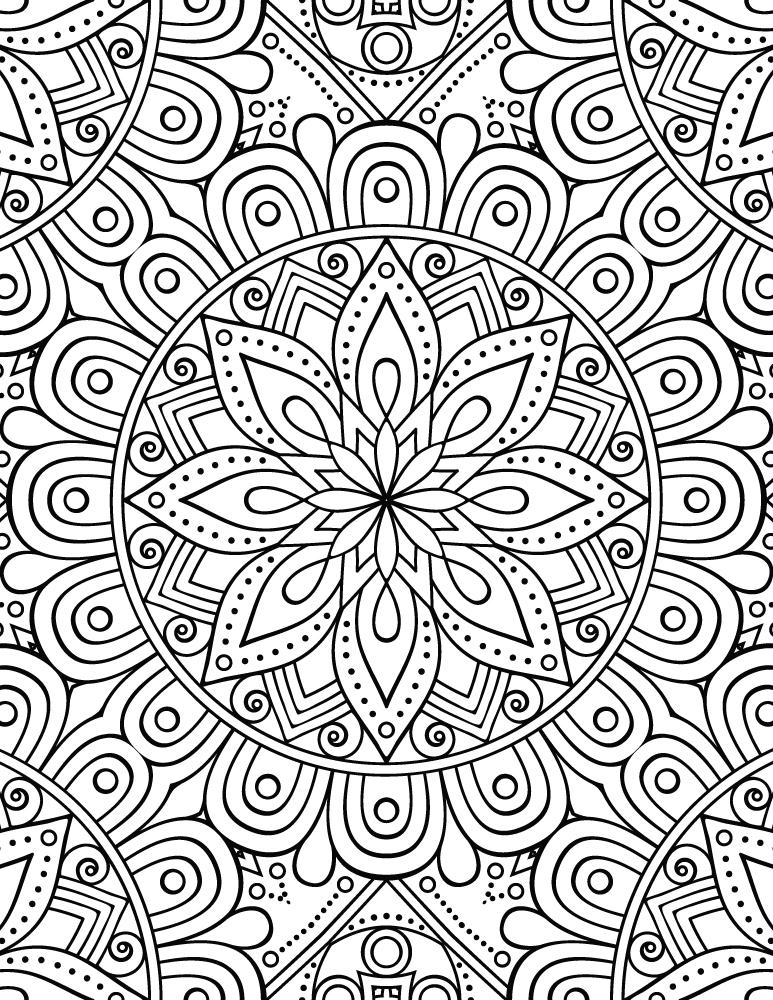 Mandala pour adulte gratuit à imprimer - Artherapie.ca