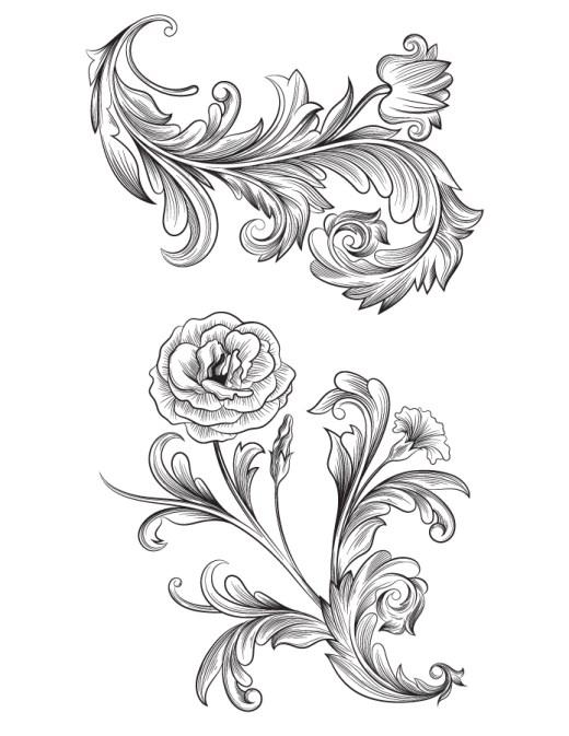 Parures baroque image à imprimer