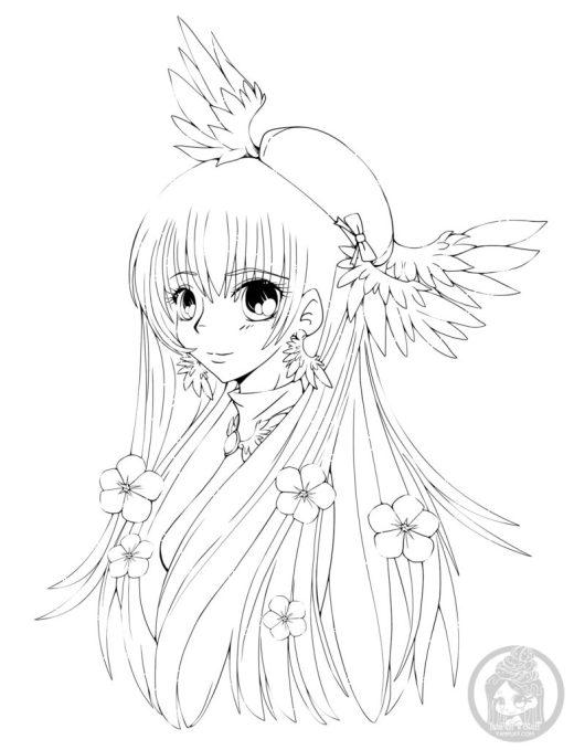 Ange kawaii dessin adulte par YamPuff