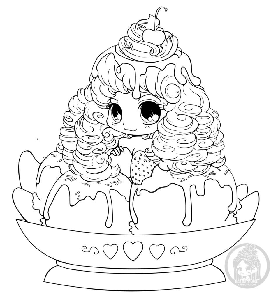Dessin chibi ice cream par YamPuff