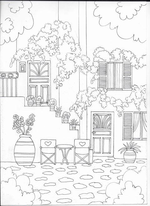 Maison printemps à imprimer Marie Claude Fontaine