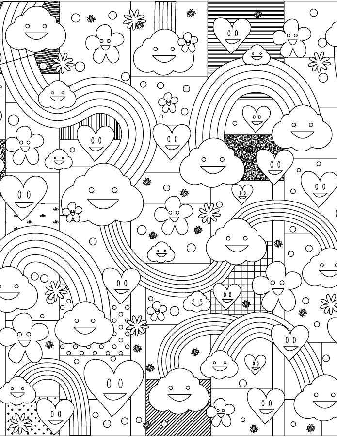 Doodle nuage jeux de coloriage gratuit