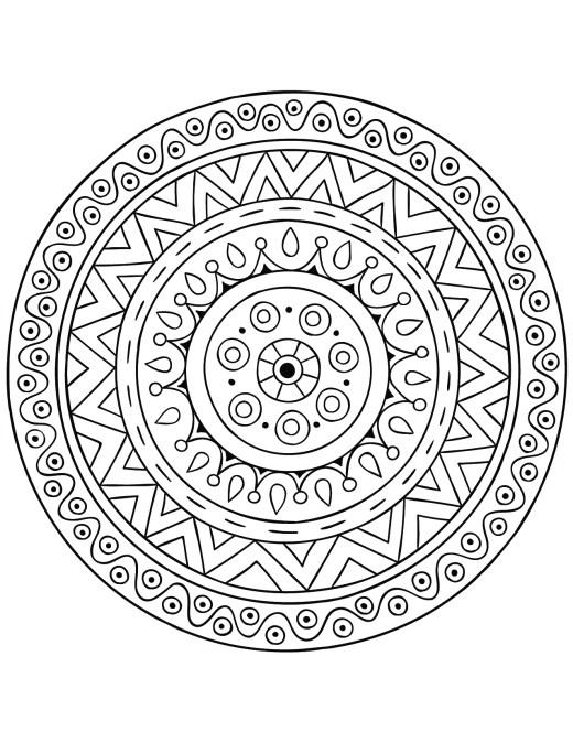 Mandala développement personnel gratuit