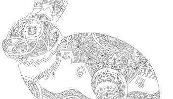 Artherapie Geométrique Lapin à Imprimer Artherapieca
