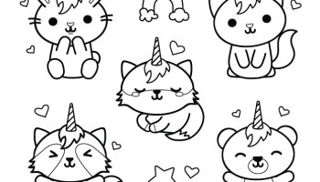 Icones Kawaii Dessin Stamp Gratuit Artherapieca