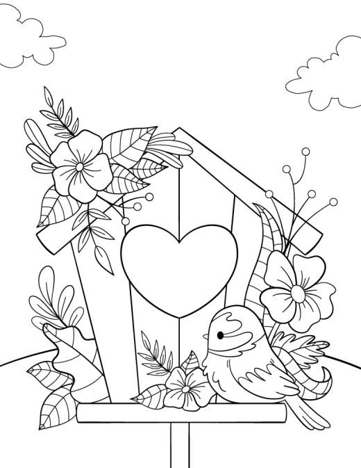 Oiseau kawaii à imprimer gratuitement
