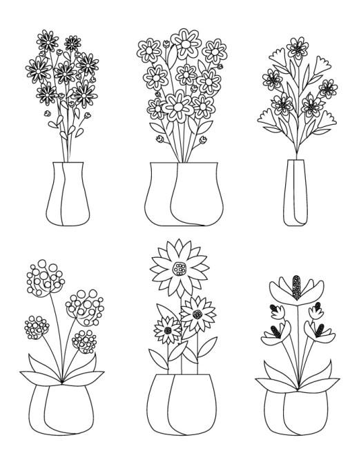 Fleurs pour dessiner à imprimer gratuit