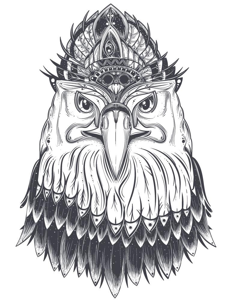 Aigle affiche à imprimer gratuitement