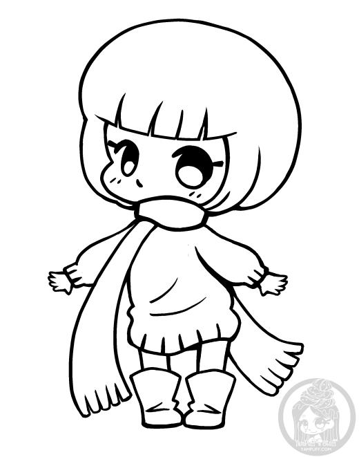 Automne kawaii dessin enfant Yampuff