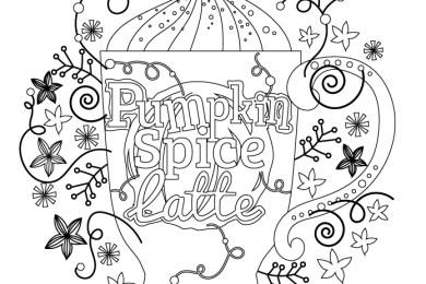 Café d'automne gratuit à colorier