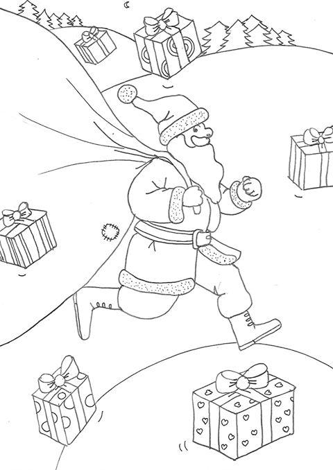 Course du Père Noël par Marie Claude Fontaine