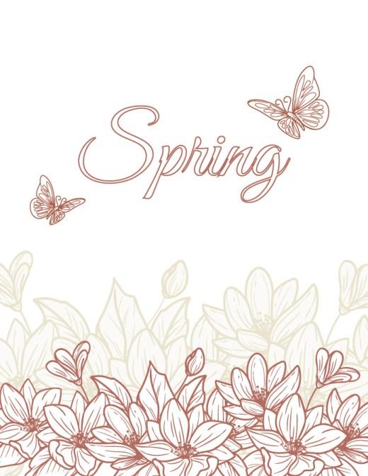Retour du printemps fleurs coloriage
