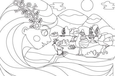 Coloriage mère nature Moana Disney