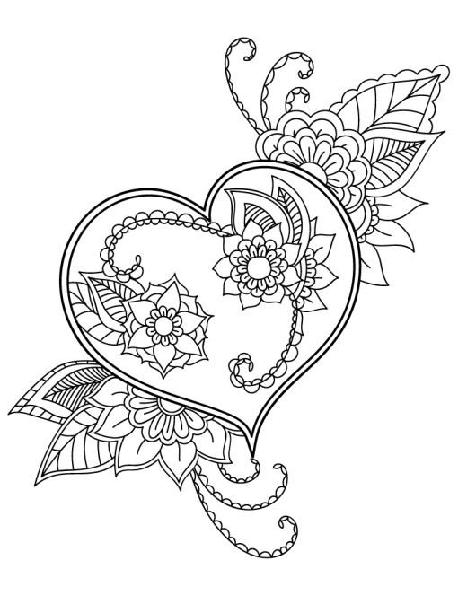 À dessiner facile fleurs amour