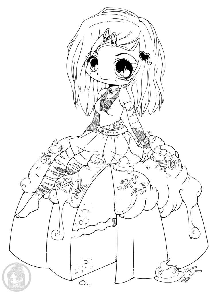 Manga gothique à colorier par YamPuff