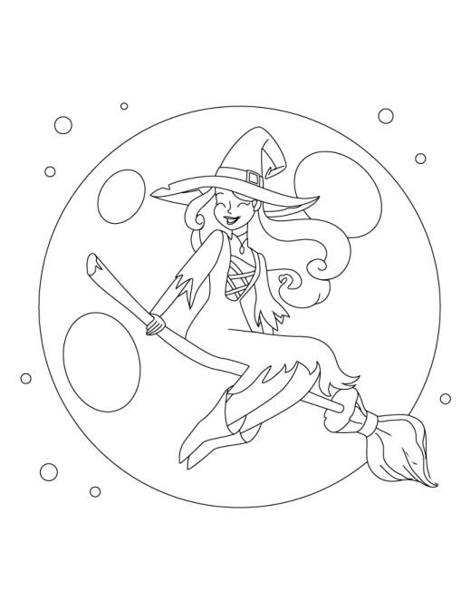 Halloween pleine lune sorcière