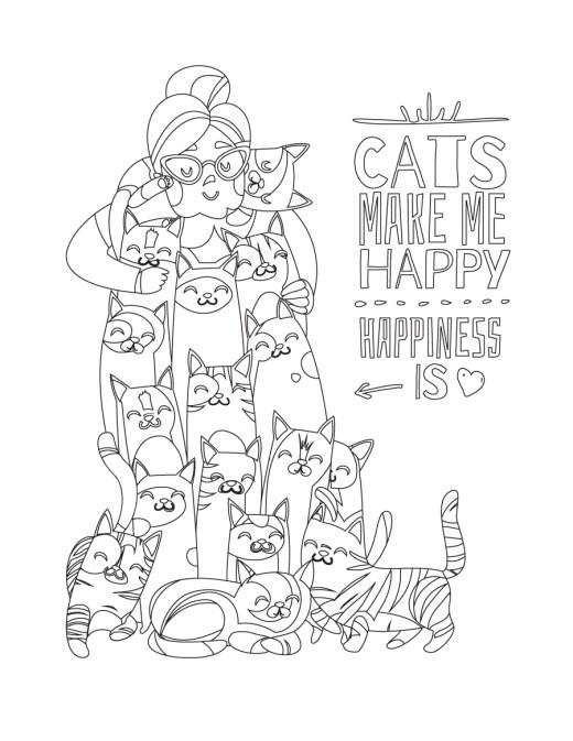 Les chats me rendent heureux