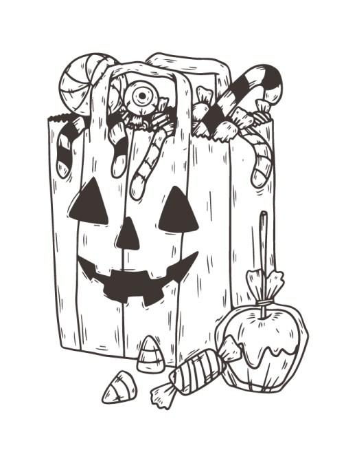 Joyeux halloween sac bonbons