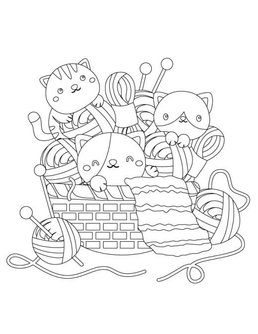 Mignons chats à colorier gratuitement