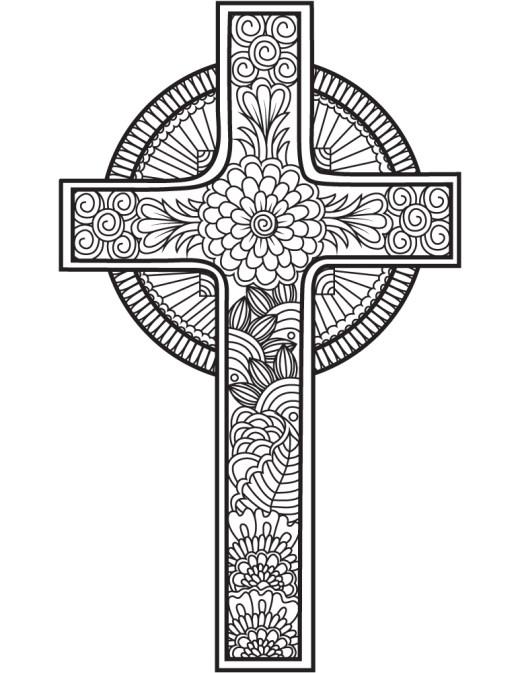 Noël dessin croix à imprimer