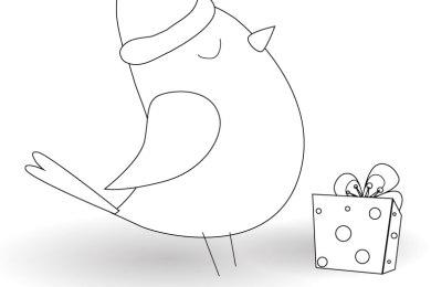 Cadeau à imprimer oiseau de noel