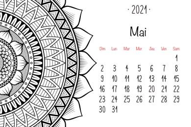 Calendrier mandala Mai 2021