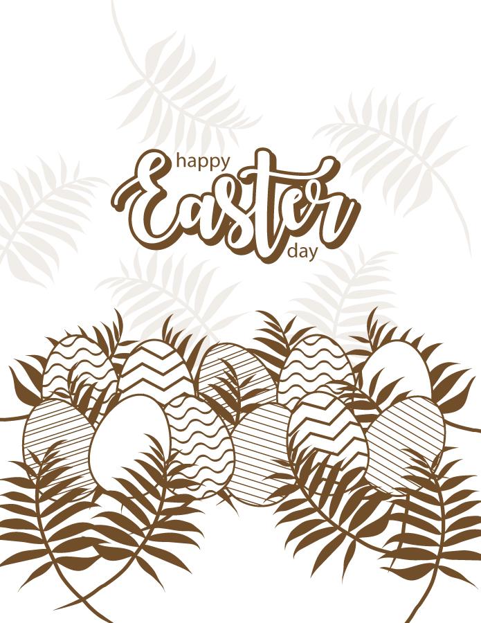 Joyeuses Pâques coloriage anti-stress