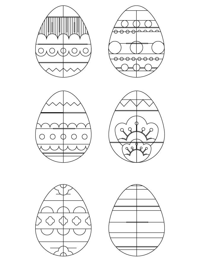 Oeufs de Pâques idée coloriage