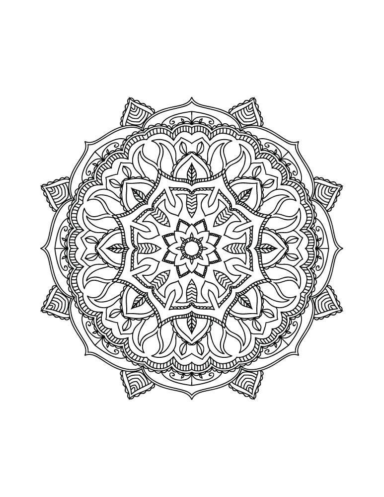 Mandala à colorier gratuitement