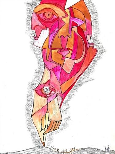 Grr grr cubiste rose 2