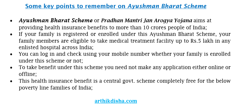 Key points on Ayushman Bharat Scheme