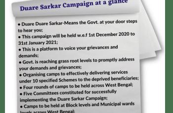 Duare Sarkar Prakalpa_Duare Sarkar Campaign at a glance-ArthikDisha