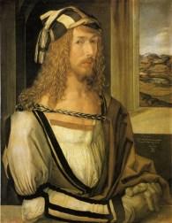 Albrecht Dürer, self-portrait, 1498, Prado