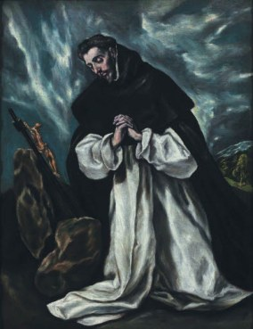 El Greco, St Dominic in prayer, 1600-10, 75 x 58 cm. Photo: Horst Bernhard, Hardheim