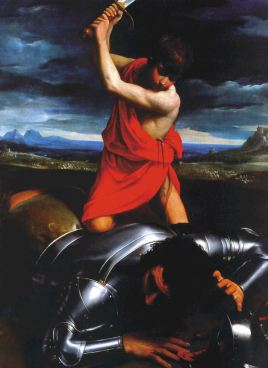 Guido Reni, David beheading Goliath, 1606-7, 174.5 x 133 cm. Photo: Hans G. Scheib, Cologne
