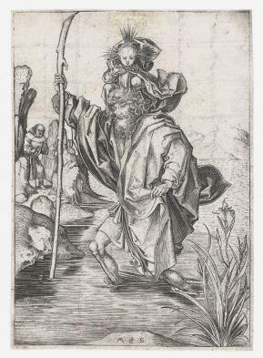 14. Martin Schongauer, St Christopher (ca. 1475), 16.0 x 11.2 cm, Rijksmuseum