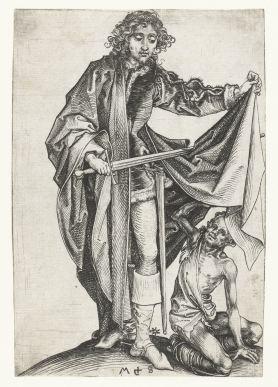 7. Martin Schongauer, St Martin (ca. 1475), 15.4 x 9.0 cm, Rijksmuseum